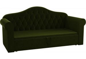 Детская кровать Делюкс Зеленый (Микровельвет)