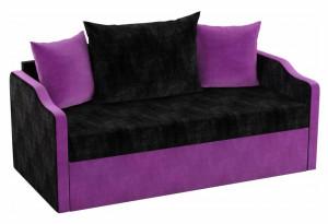 Детский диван Дороти черный/фиолетовый (Микровельвет)