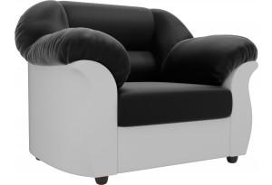 Кресло Карнелла Черный/Белый (Экокожа)