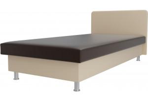 Кровать Мальта Коричневый/Бежевый (Экокожа)