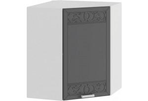 Шкаф навесной угловой «Долорес» (Белый/Титан)