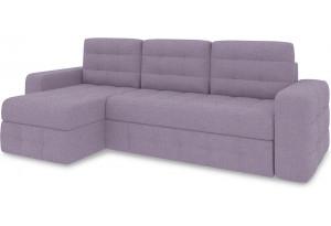 Диван угловой левый «Райс Т1» (Neo 09 (рогожка) фиолетовый)