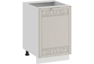 Шкаф напольный с одной дверью «Долорес» (Белый/Крем)