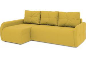 Диван угловой левый «Томас Slim Т2» (Poseidon Curcuma (иск.замша) желтый)
