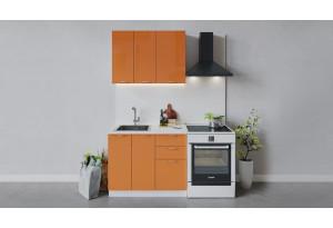 Кухонный гарнитур «Весна» длиной 100 см (Белый/Оранж глянец)