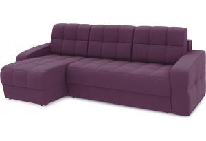 Диван угловой левый «Аспен Т1» (Kolibri Violet (велюр) фиолетовый)