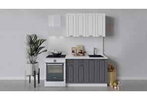 Кухонный гарнитур «Лина» длиной 120 см (Белый/Белый/Графит)