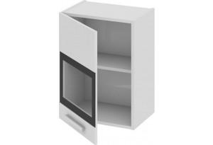 Шкаф навесной со стеклом (левый) Фэнтези (Белый универс)