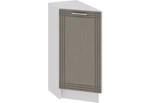 Шкаф напольный торцевой с одной дверью «Ольга» (Белый/Кремовый)