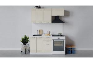Кухонный гарнитур «Долорес» длиной 160 см (Белый/Крем)