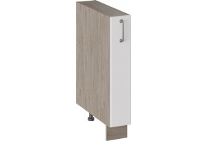 Шкаф напольный с выдвижной корзиной (ОДРИ (Белый софт))