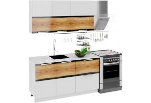Кухонный гарнитур длиной - 210 см Фэнтези (Вуд)