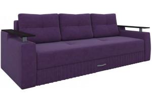Диван прямой Лотос Фиолетовый (Микровельвет)