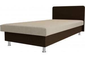 Кровать Мальта бежевый/коричневый (Микровельвет)