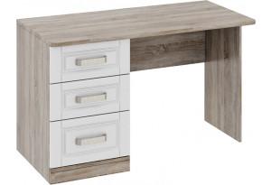 Письменный стол с 3-мя ящиками «Прованс» Дуб Сонома трюфель/Крем