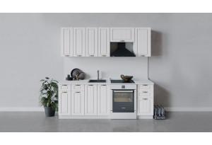 Кухонный гарнитур «Лина» длиной 220 см (Белый/Белый)