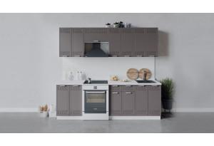 Кухонный гарнитур «Долорес» длиной 240 см (Белый/Муссон)