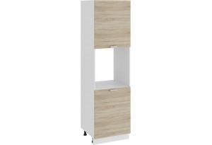 Шкаф-пенал под бытовую технику с двумя дверями «Гранита» (Белый/Дуб сонома)