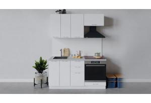 Кухонный гарнитур «Весна» длиной 160 см со шкафом НБ (Белый/Белый глянец)