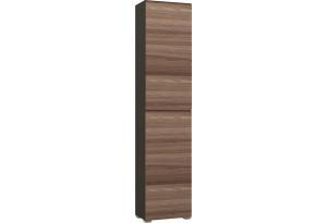 Шкаф распашной однодверный Верона вариант №3 (венге/ясень шимо)