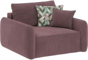 Модульный диван Портленд розово-серый (Велюр)
