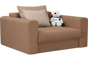 Кресло тканевое Медисон Вариант №1 100 см коричневый (Рогожка)