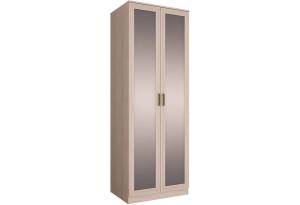 Шкаф распашной двухдверный Триполи вариант №1 (ясень светлый/зеркало)