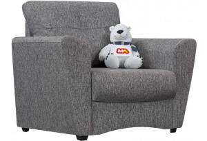 Кресло тканевое Амстердам серый (Рогожка)