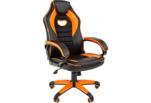 Игровое кресло Chairman game 16 черный/оранжевый
