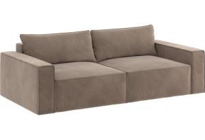 Модульный диван Портленд вариант №9 тёмно-бежевый (Микровелюр)