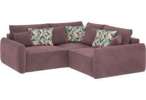 Модульный диван Портленд вариант №6  розово-серый (Велюр)