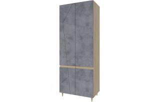 Шкаф распашной двухдверный Монца (дуб небраска/бетон тёмный)