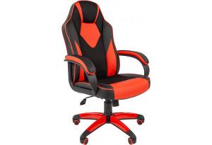Игровое кресло Chairman game 17 (черный/красный)