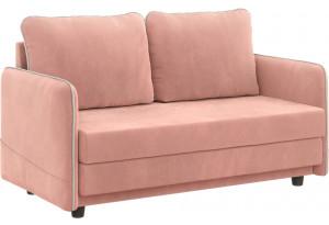 Диван тканевый прямой Слим мини розовый (Велюр)