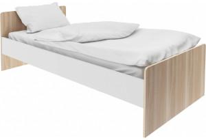 Кровать односпальная 190х90 Акварель (ясень песочный/белый)