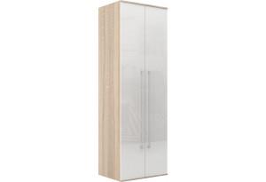 Шкаф распашной двухдверный Бали вариант №1 (белый глянец/дуб сонома)