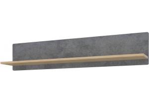 Полка Монца 118/24 см (дуб небраска/бетон тёмный)