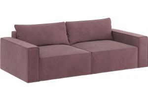Модульный диван Портленд вариант №9 розово-серый (Велюр)