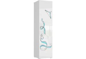 Шкаф распашной однодверный Мелисса вариант №2 (белый)