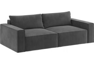 Модульный диван Портленд вариант №9 серый (Микровелюр)