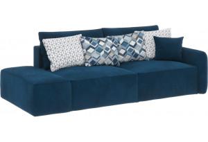 Модульный диван Портленд вариант №2 светло-синий (Микровелюр)