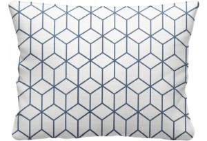 Декоративная подушка Портленд 60х48 см вариант №2 синий (Жаккард)