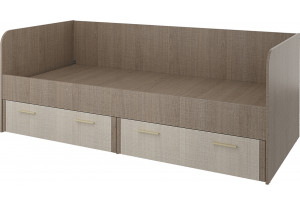 Кровать односпальная 200х90 Санди (крослайн карамель/латте)