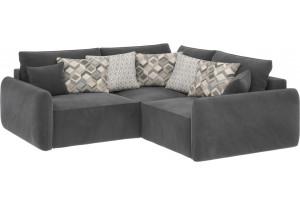Модульный диван Портленд вариант №6 серый (Микровелюр)
