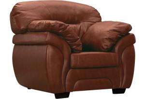 Кресло кожаное Бристоль Коричневый (Кожаное изделие)