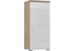 Шкаф распашной однодверный Верона Люкс 103 см вариант №1 (дуб сонома/белый глянец)