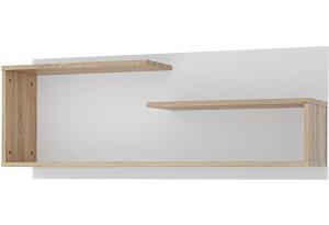 Полка Лакки 110 см (Дуб сонома/Белый)