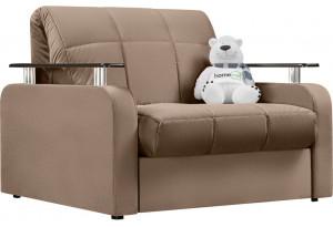 Кресло тканевое Денвер коричневый (Велюр)