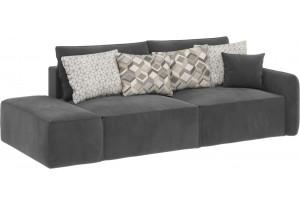 Модульный диван Портленд вариант №2 серый (Микровелюр)