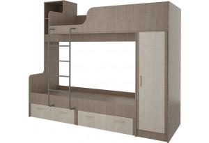 Кровать двухъярусная 80х160 Санди (крослайн карамель/латте)
